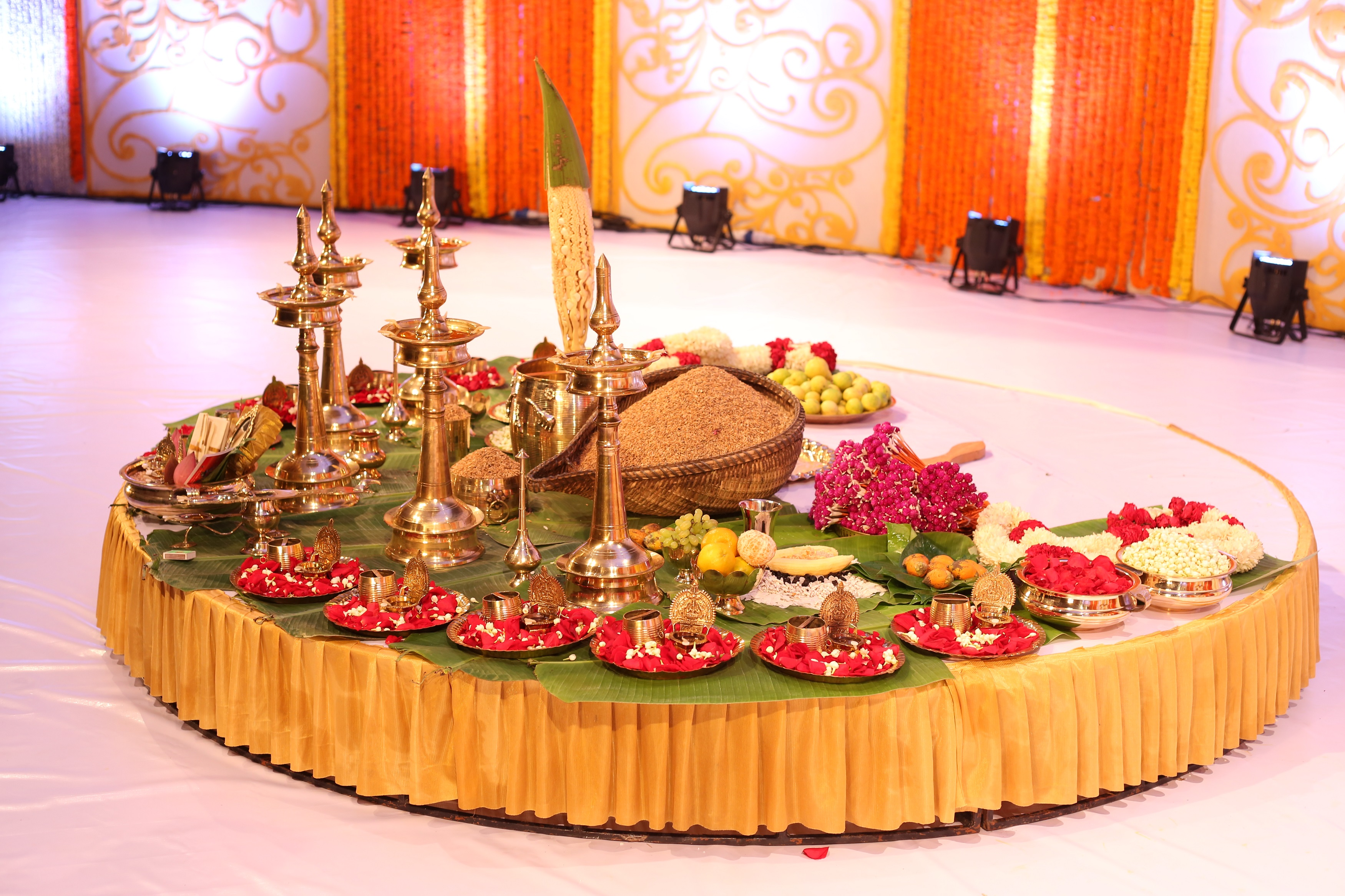 Nair Wedding- Sacred Arrangements